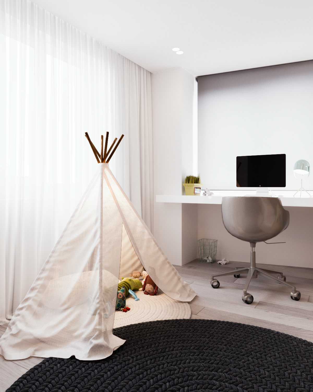 Adorable Tipi Inspiration - A calm and simple family home with neat features