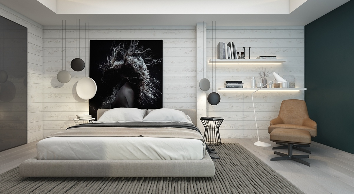 Bedroom wall decorations modern - 7 Bedrooms With Brilliant Accent Walls