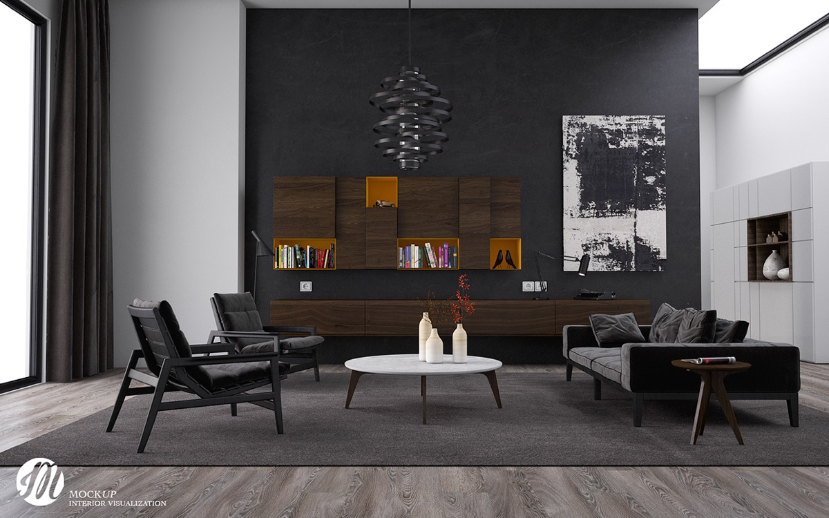 Black living rooms ideas inspiration for Black in interior design