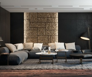 love monochromatic decor - Living Room Interior