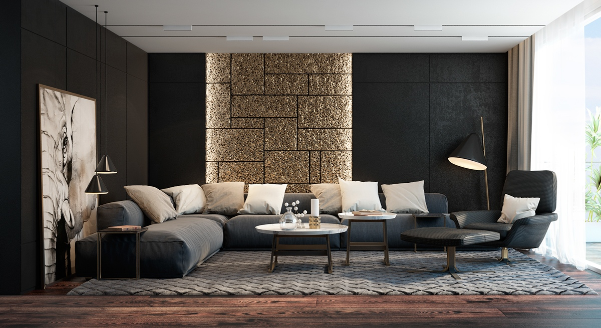 Black Walls black living rooms ideas & inspiration