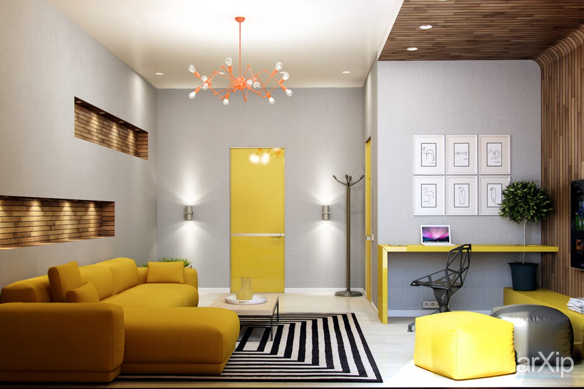 25 gorgeous yellow accent living rooms for Interior decorators zà rich
