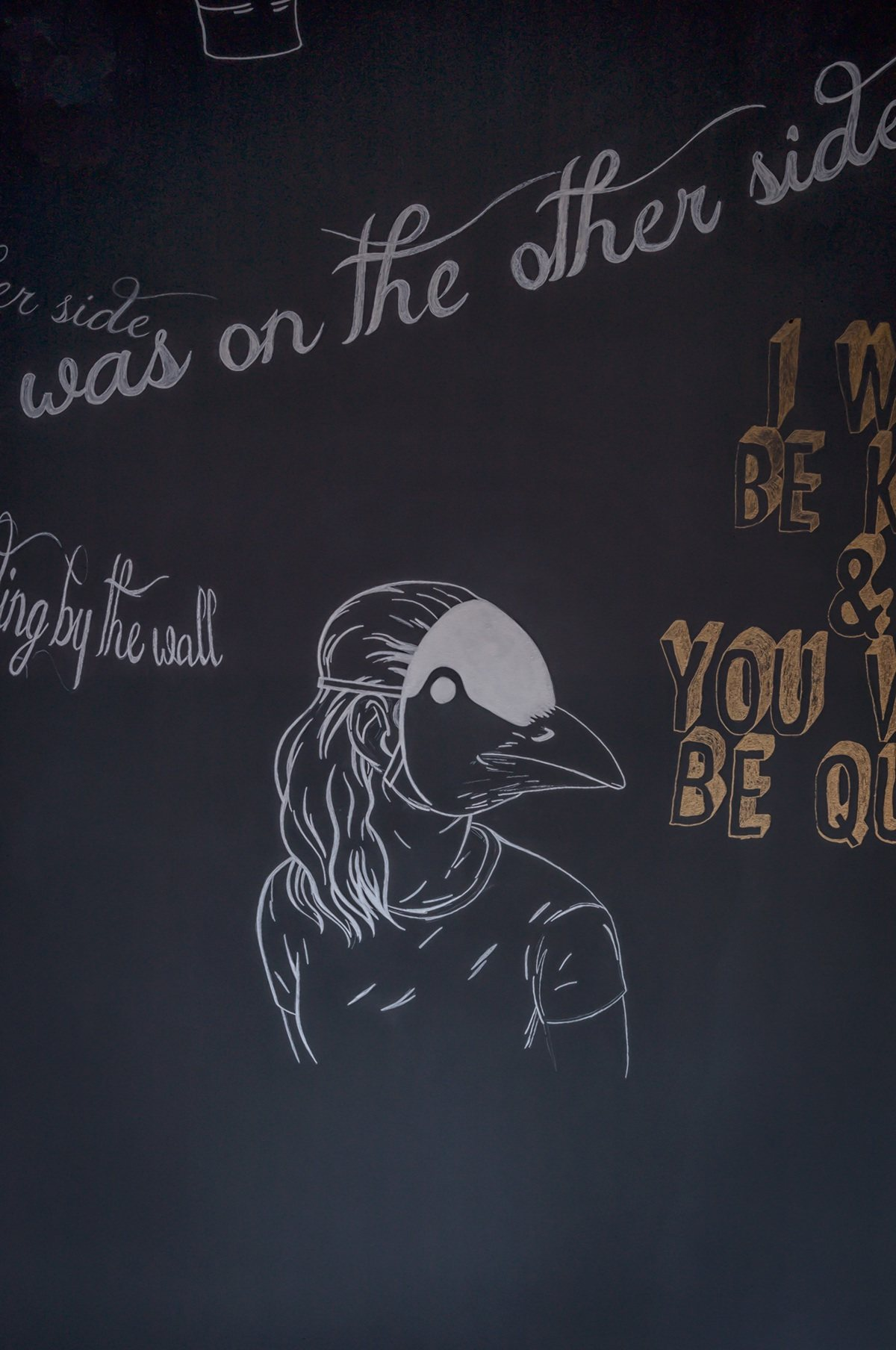 Chalkboard Wall Inspiration - 4 beautiful dark themed homes
