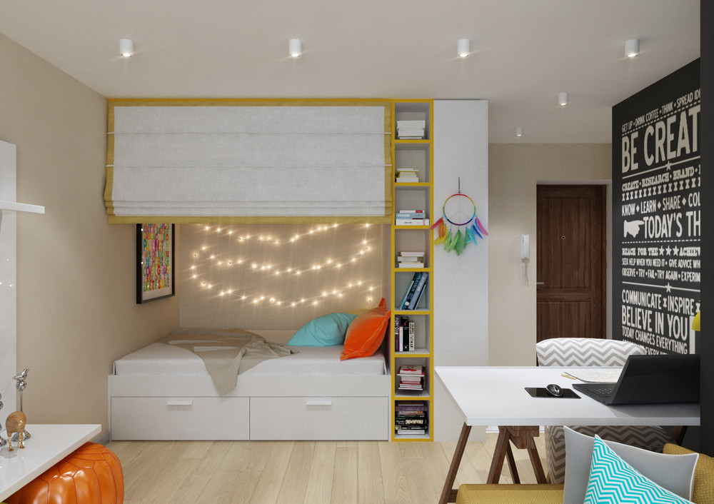Clever Small Bedroom Designs - 4 inspiring home designs under 300 square feet with floor plans