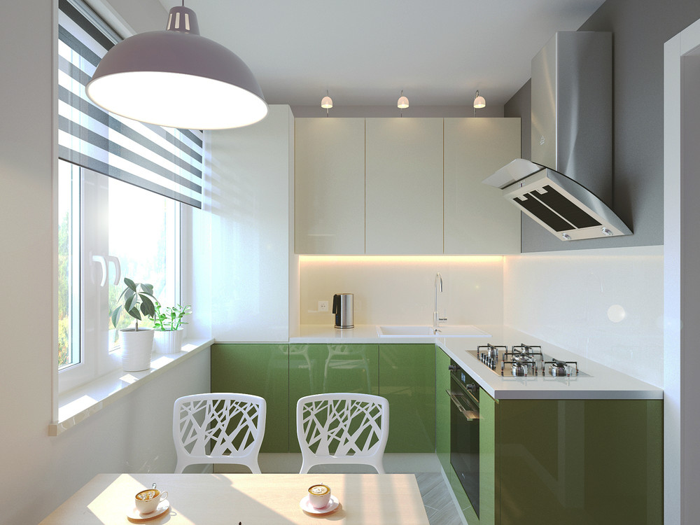 Colorful Compact Kitchen - 6 beautiful home designs under 30 square meters with floor plans