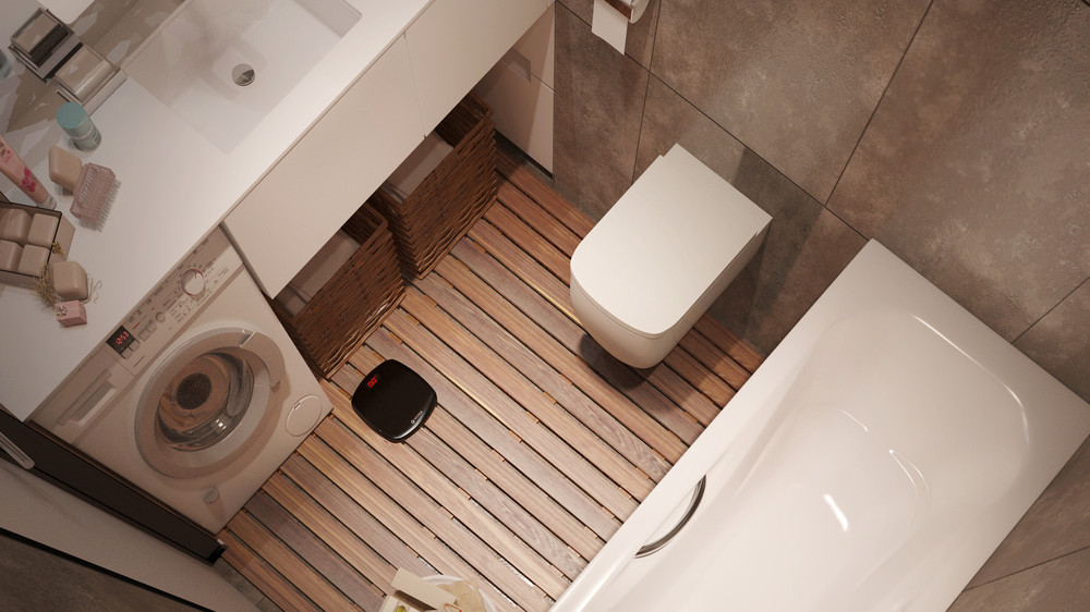 Compact Bathroom Layout - 6 beautiful home designs under 30 square meters with floor plans