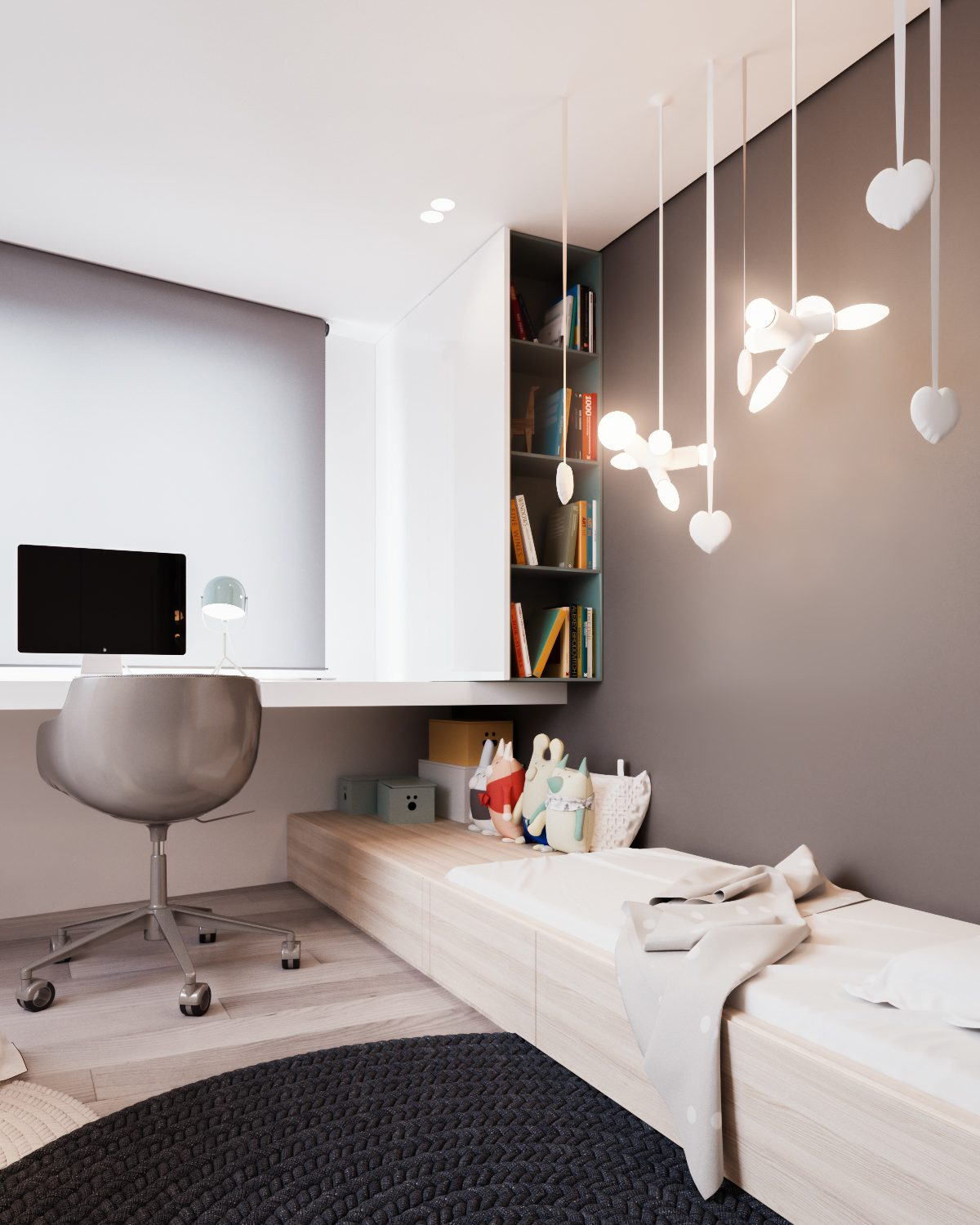 Creative Kids Lighting Ideas - A calm and simple family home with neat features