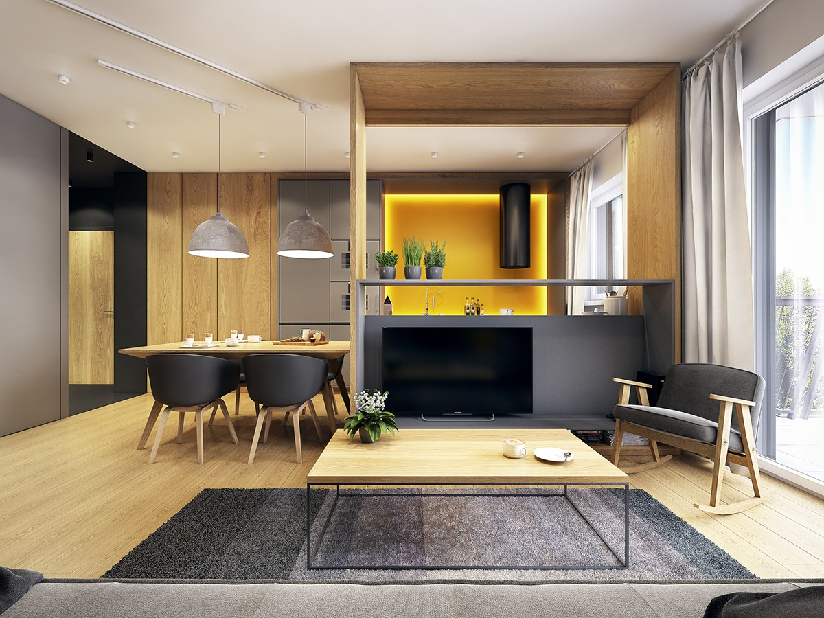 A modern scandinavian inspired apartment with ingenius for Style appartement moderne