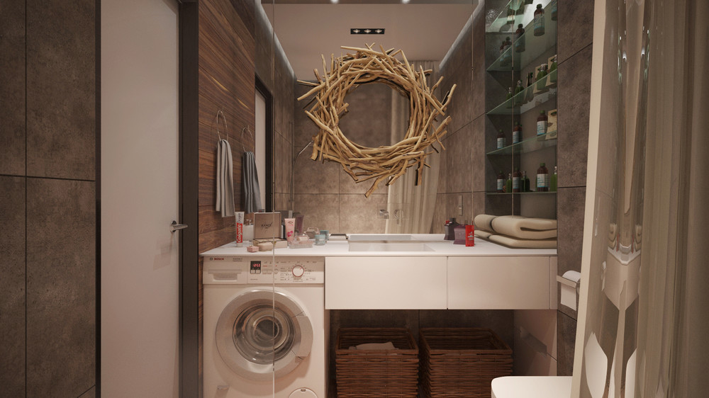 Cute Bathroom Mirror Ideas - 6 beautiful home designs under 30 square meters with floor plans