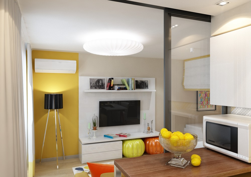 Cute Colorful Small Apartment - 4 inspiring home designs under 300 square feet with floor plans