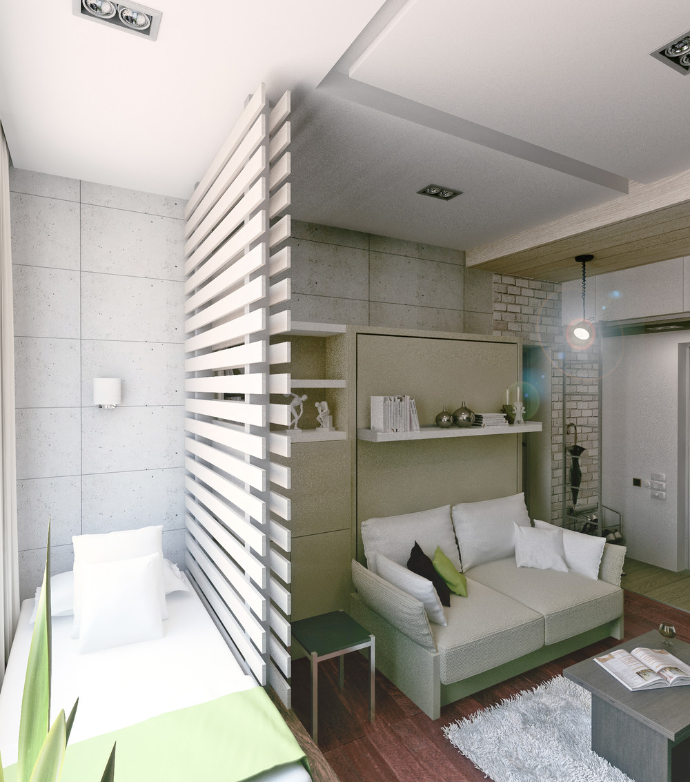 Cute Room Dividers - 6 beautiful home designs under 30 square meters with floor plans