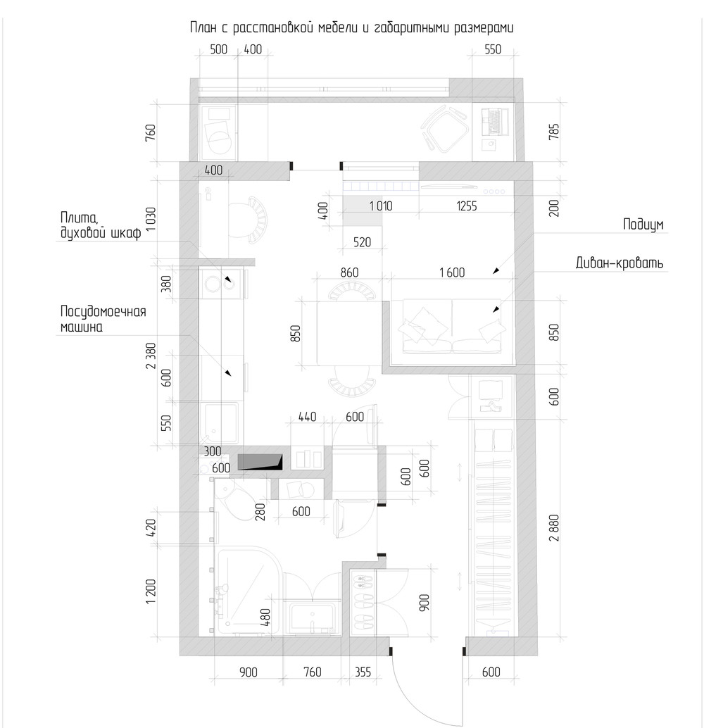 Cute Small Apartment Floor Plan - 6 beautiful home designs under 30 square meters with floor plans