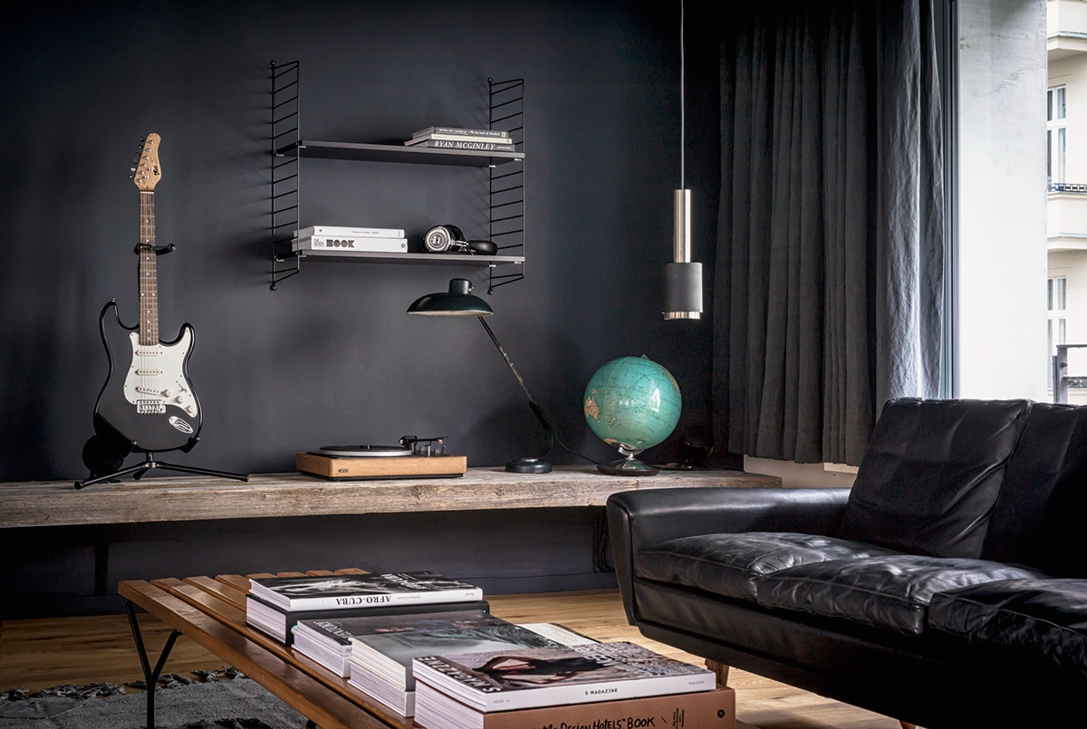 4 beautiful dark themed homes - Decoration interieur noir blanc gris ...