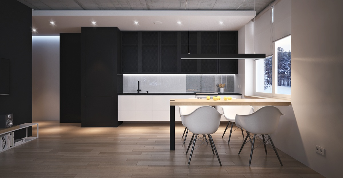 Dark Kitchen Ideas - 4 beautiful dark themed homes