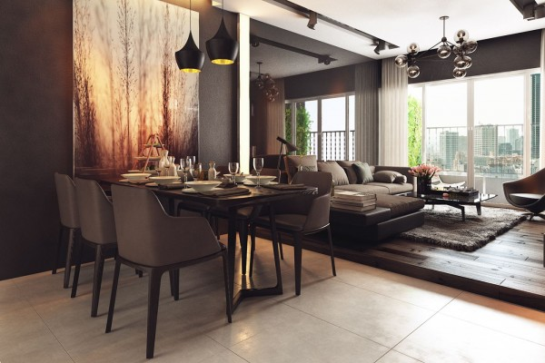 Two homes with elegant decor and neutral colors for Dining room colour inspiration