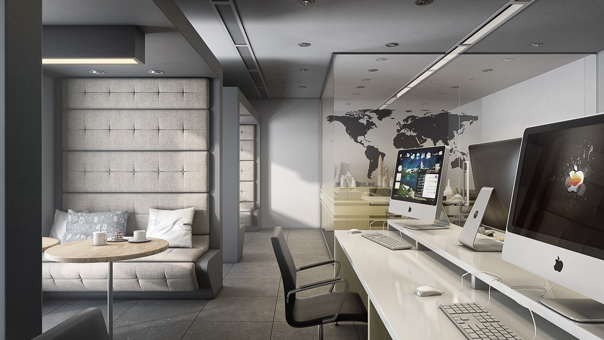 Grayscale Office Design - 4 beautiful dark themed homes