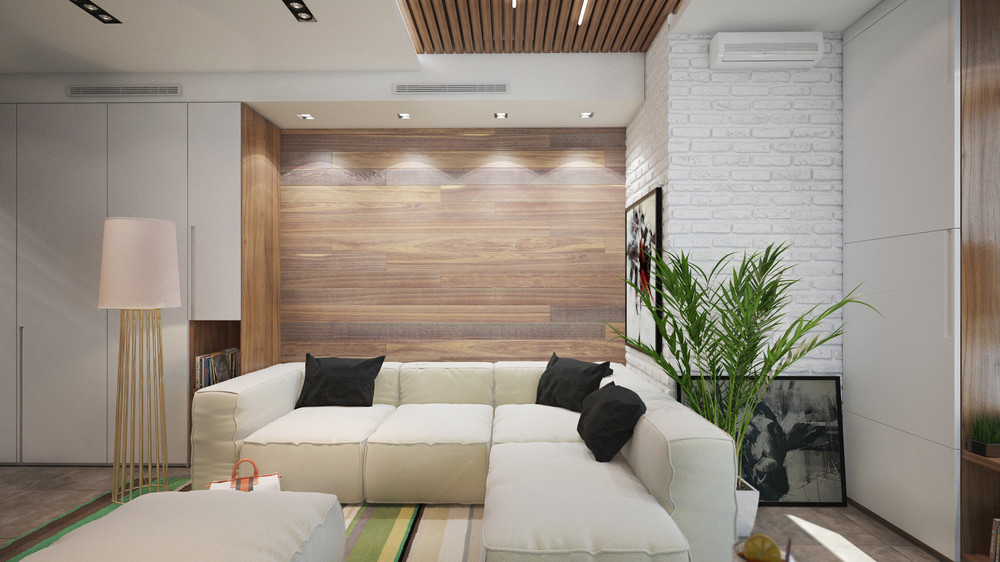 Green And Wood Decor - 6 beautiful home designs under 30 square meters with floor plans