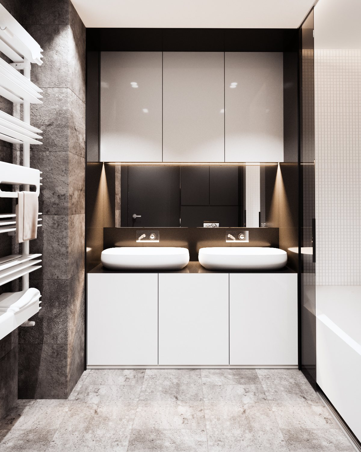 Inspiring Bathroom Features - A calm and simple family home with neat features