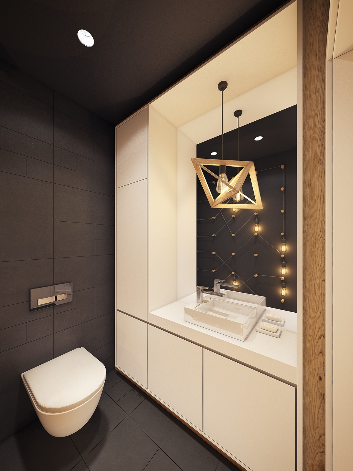 Inspiring Bathroom Lighting - A modern scandinavian inspired apartment with ingenius features