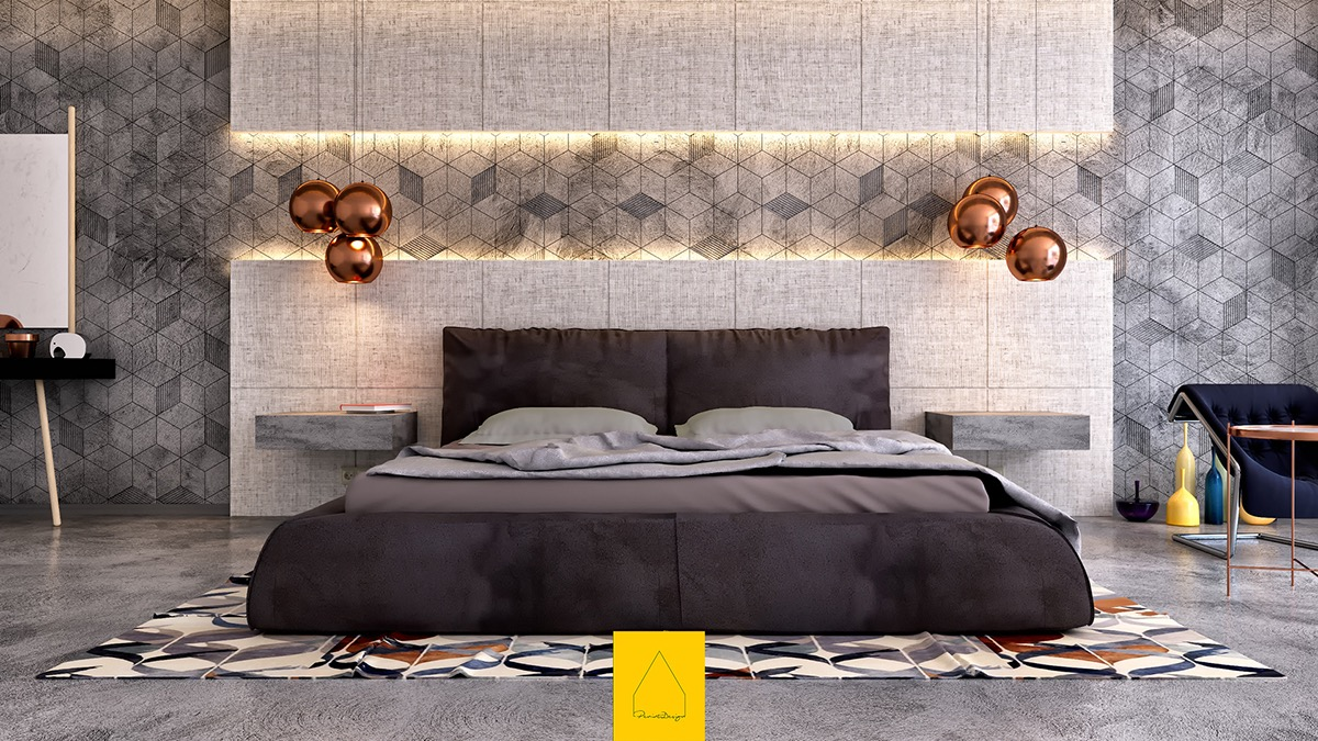 bedroom wall pictures.  7 Bedrooms With Brilliant Accent Walls