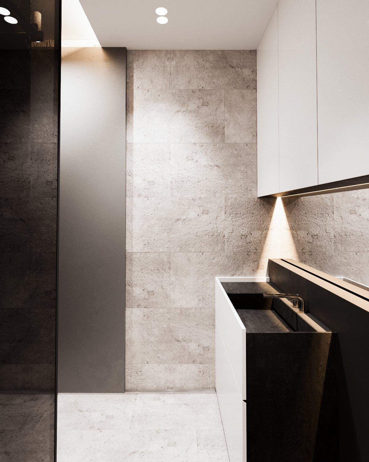 Minimalistic Bathroom Ideas - A calm and simple family home with neat features