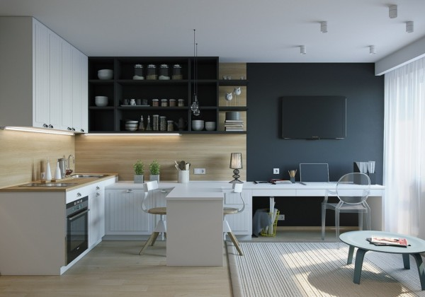 4 Inspiring Home Designs Under 300 Square Feet With Floor: 200 sqft office interior