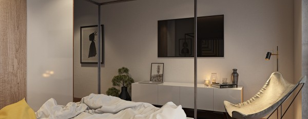 Simple decor allows the headboard area to take center stage.