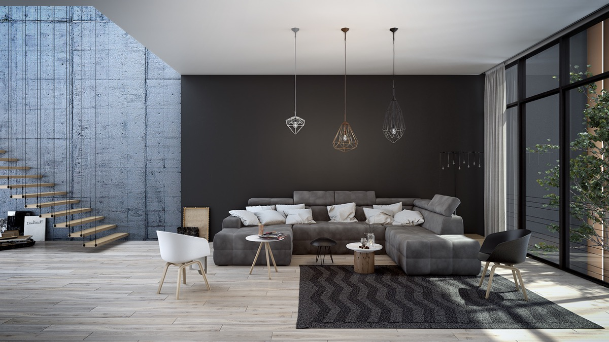 Black living rooms ideas inspiration for Black room design