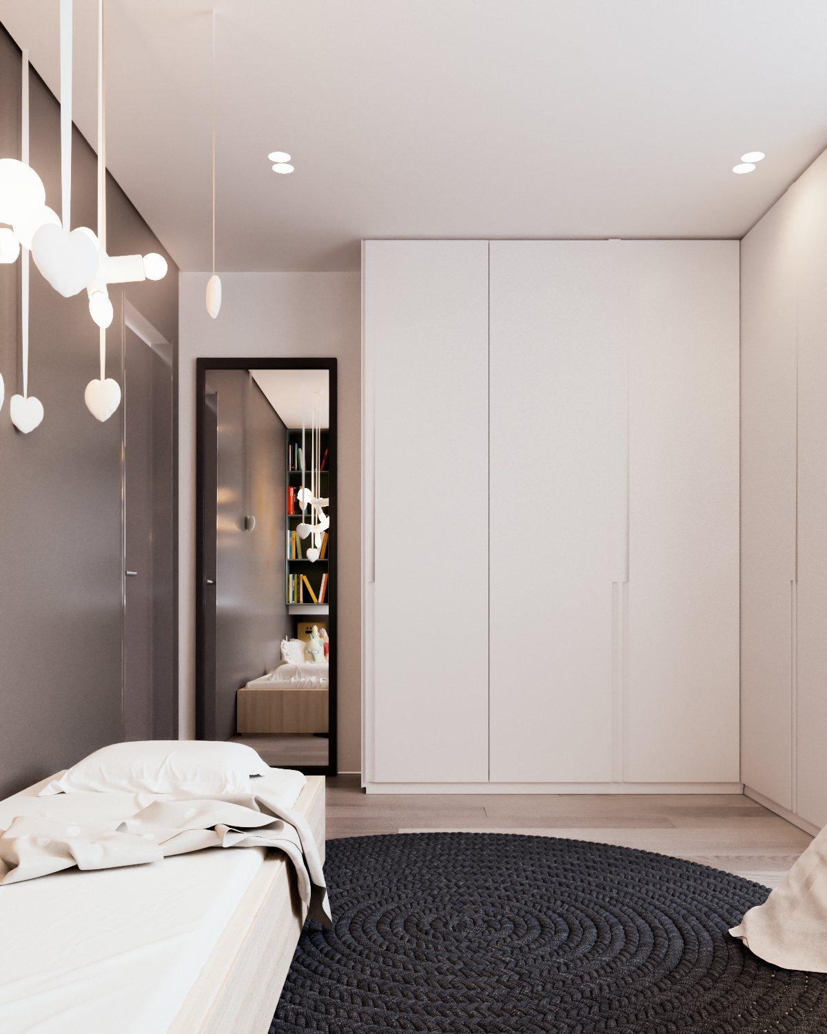 Simple Childrens Bedroom - A calm and simple family home with neat features