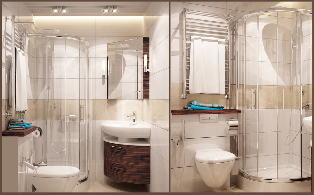 6 beautiful home designs under 30 square meters with for Small 3 piece bathroom ideas