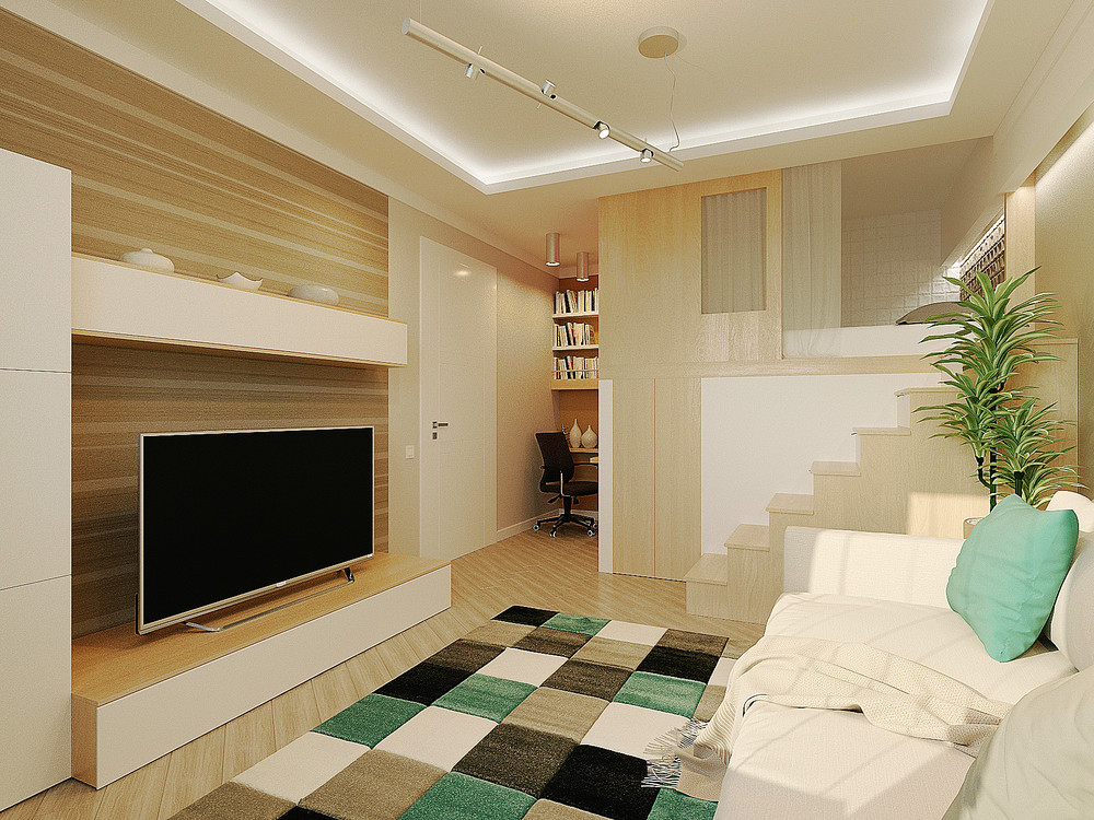 Small Colorful Apartment - 6 beautiful home designs under 30 square meters with floor plans