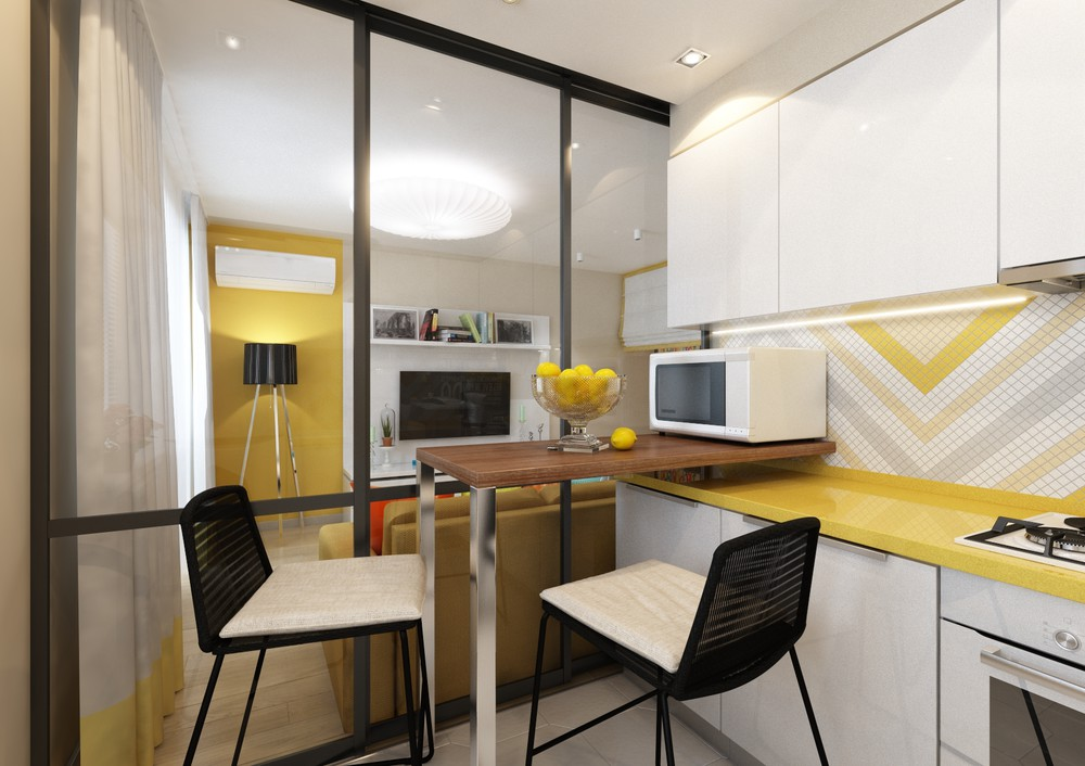 4 inspiring home designs under 300 square feet with floor Small square kitchen designs