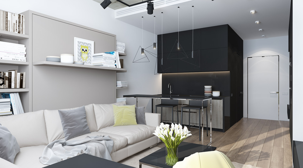 Small Studio With Spacious Design   6 Beautiful Home Designs Under 30  Square Meters With Floor