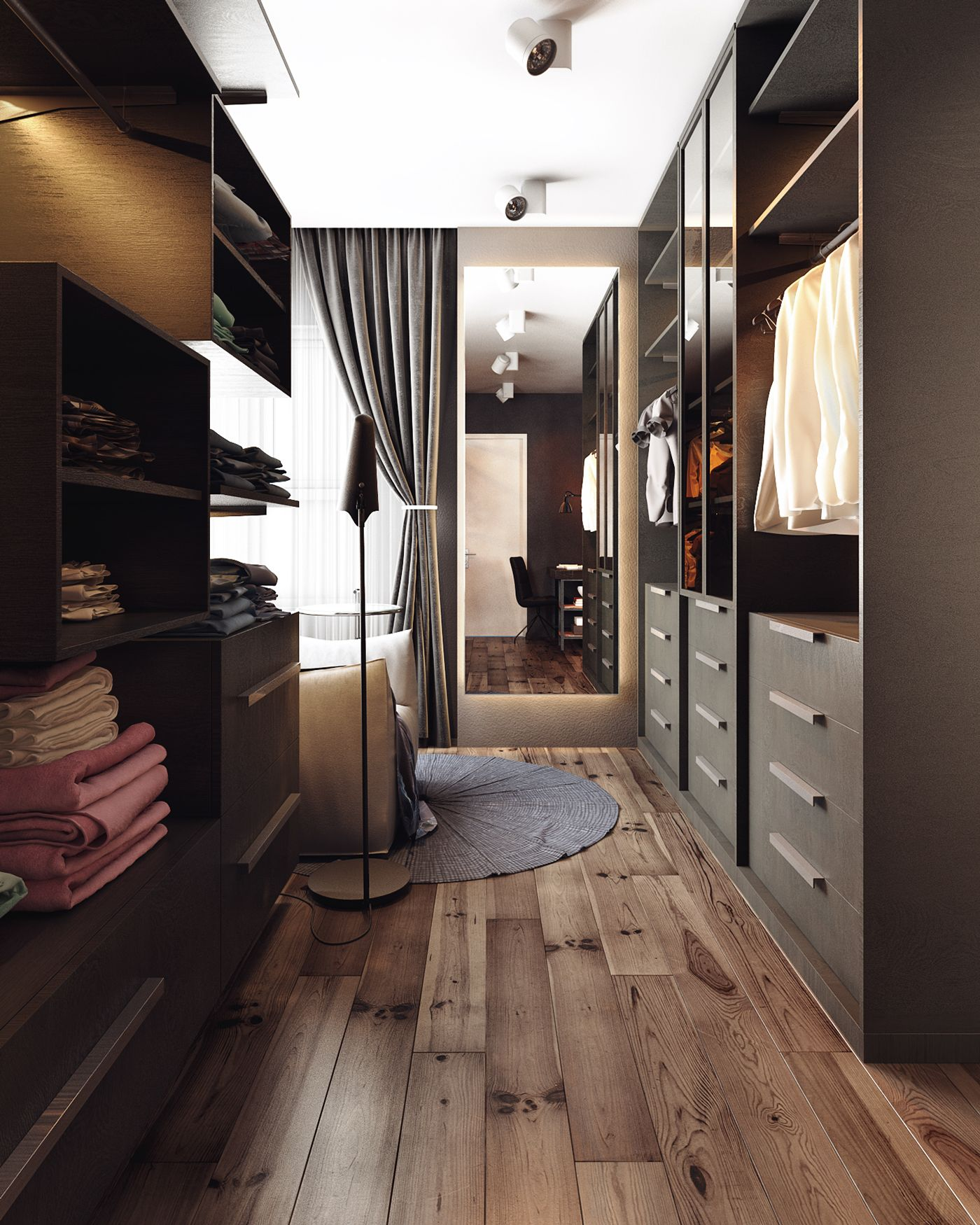 Two homes with elegant decor and neutral colors for Houses with walk in closets