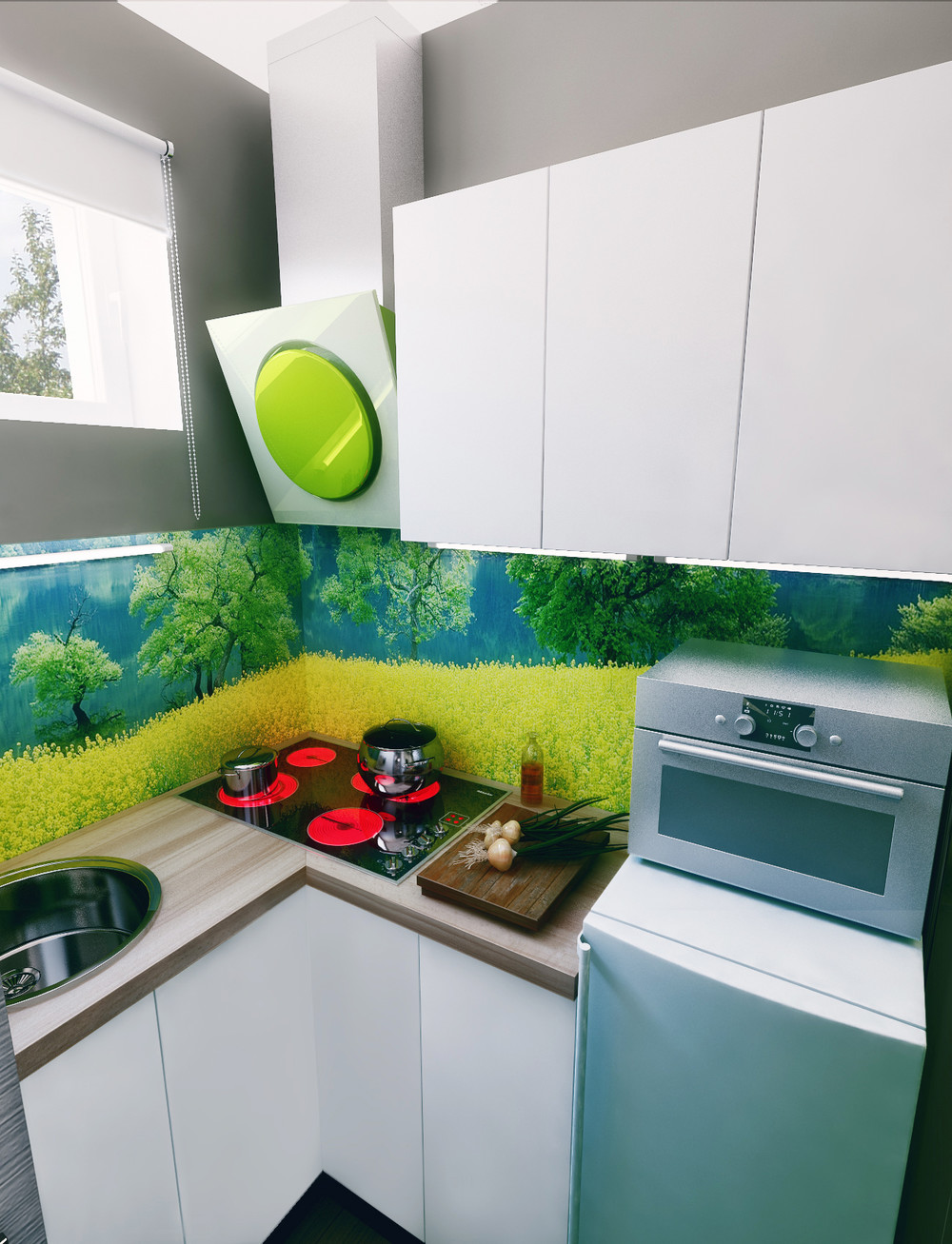 Super Compact Kitchen Ideas - 6 beautiful home designs under 30 square meters with floor plans