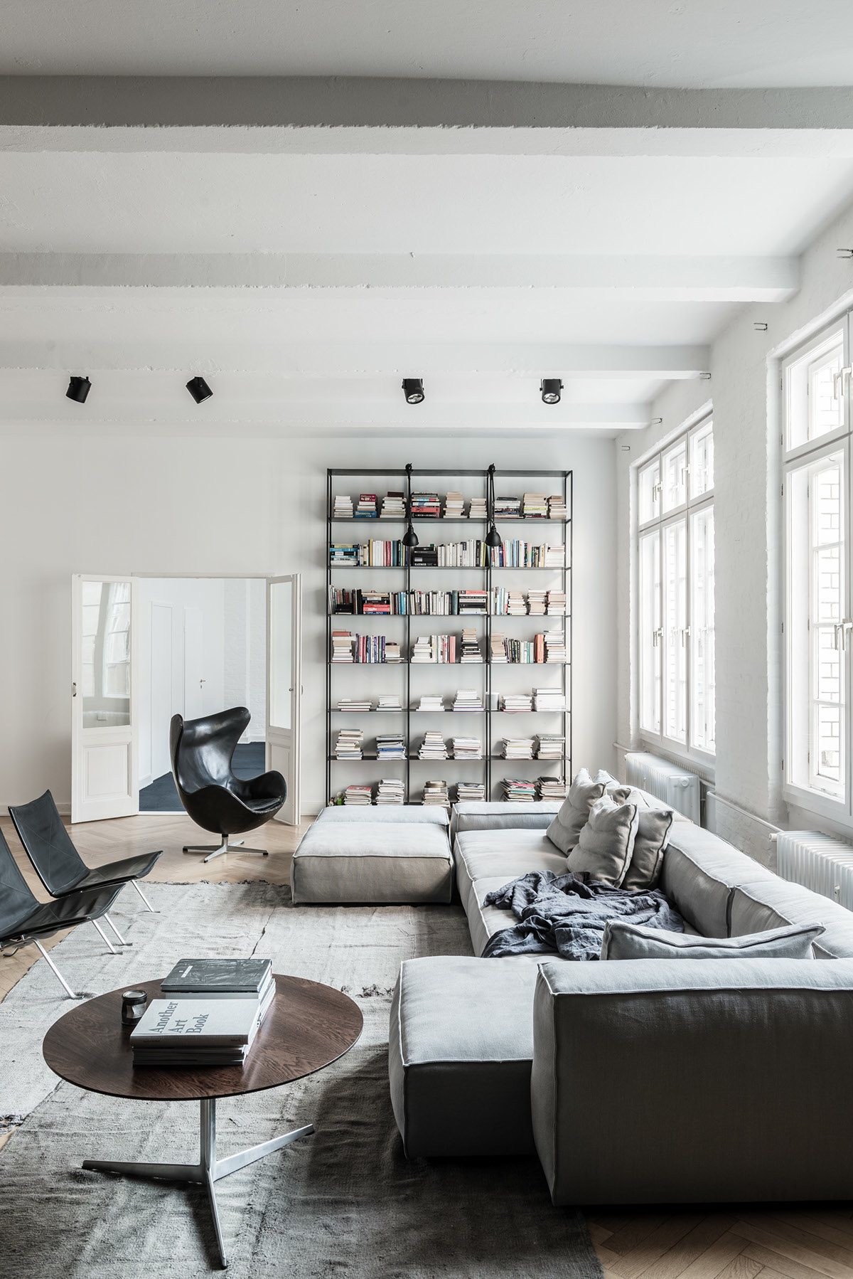 White Distressed Interior Ideas - Stylish exposed brick wall lofts