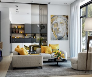 Charmant Need A New Accent Color? These Modern Yellow Accent Living Room Designs ...