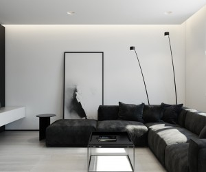 6 perfectly minimalistic black and white interiors - Interior Design At Home