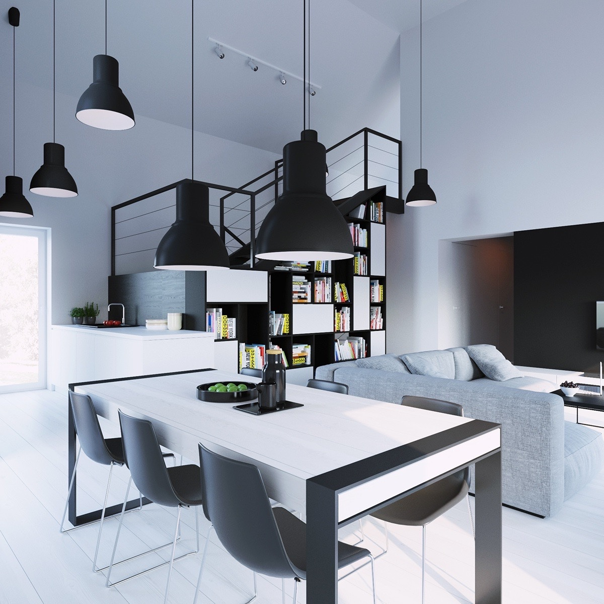 Black And White Modern Dining Room - Dining rooms that mix classic and ultra modern decor
