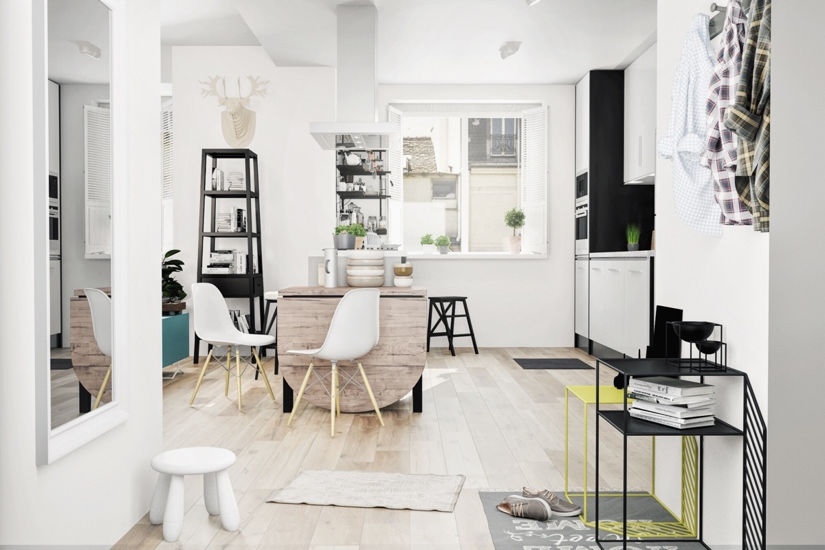 Black And White Scandinavian Kitchen - 10 stunning apartments that show off the beauty of nordic interior design