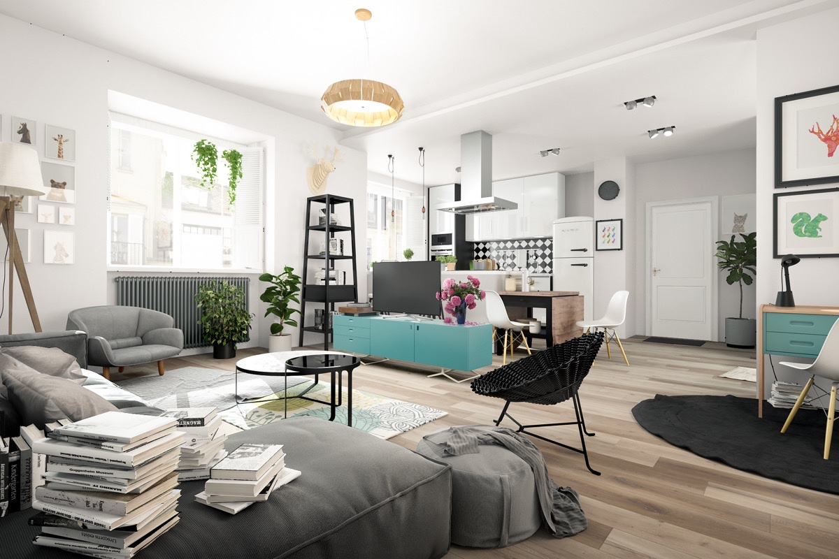 Blue And Black Nordic Decor - 10 stunning apartments that show off the beauty of nordic interior design