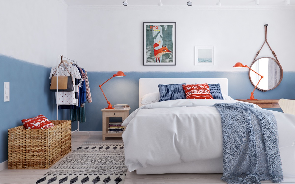 Scandinavian bedrooms ideas and inspiration for Bedroom inspiration orange