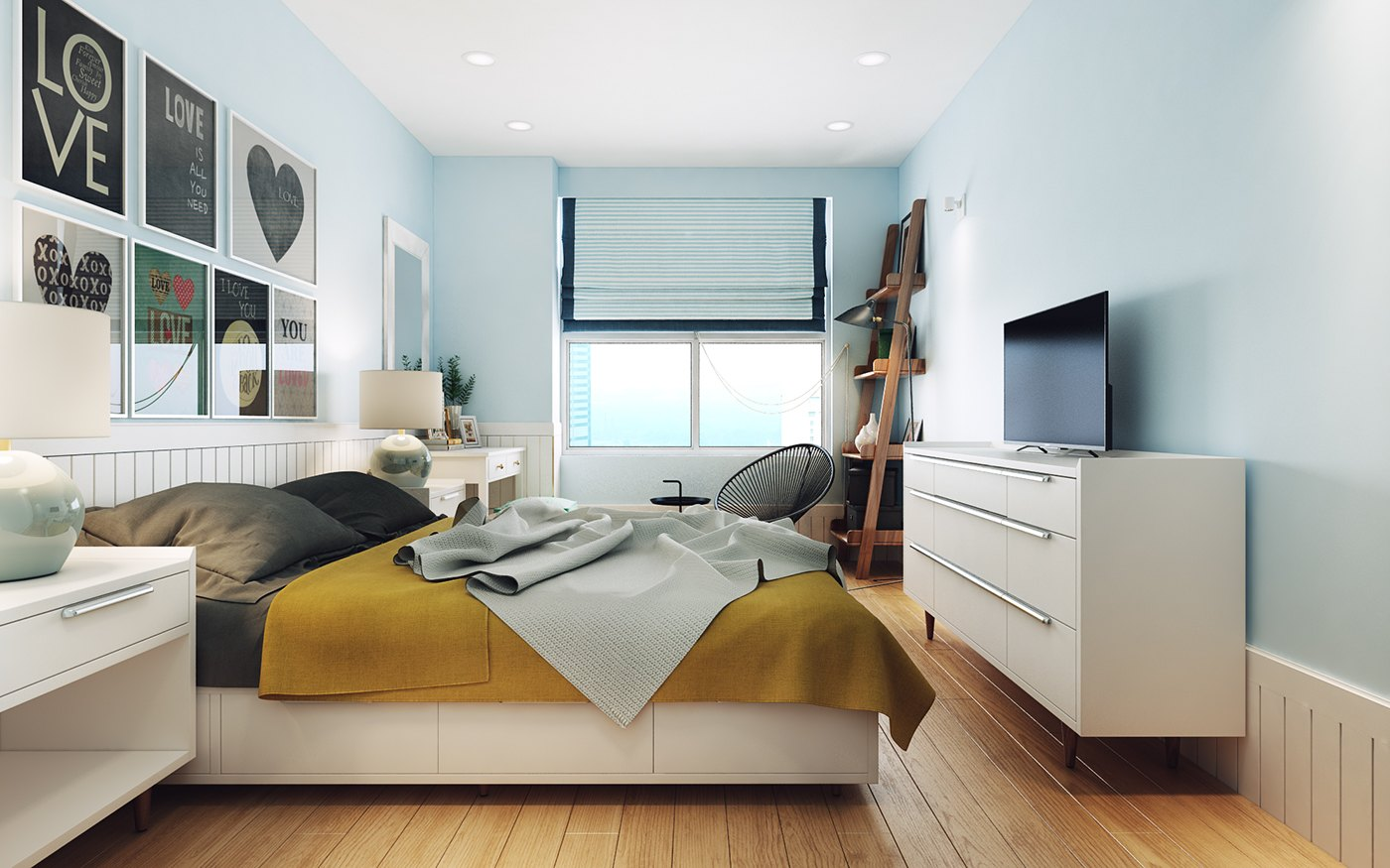 Blue And Yellow Bedroom Design - 10 stunning apartments that show off the beauty of nordic interior design