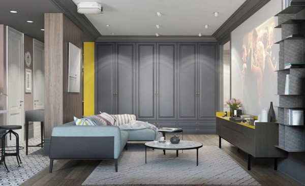 But The Sense Of Contrast Goes Beyond Just The Color Choices U2013 Frame And  Panel Cabinetry Add A Chic Touch Within A Space Defined Mostly By Its Sharp  Modern ... Part 82
