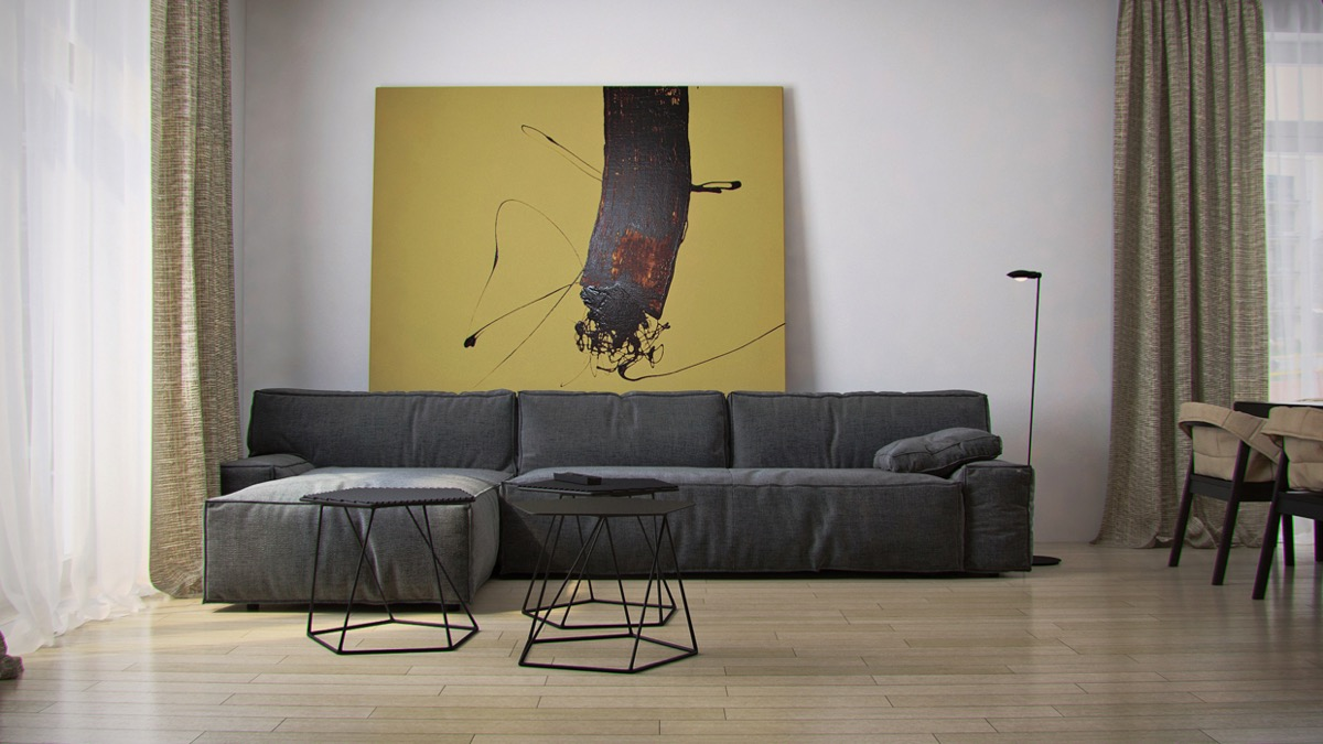 bold living room wall art