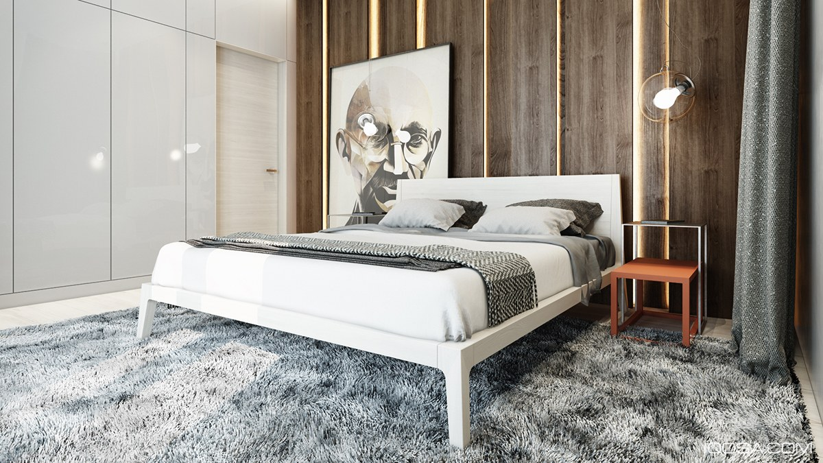 Brown And Grayscale Bedroom Inspiration - Playful ways to brighten neutral color themes