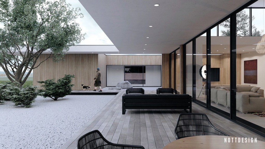 an amazing cantilever home with brilliantly integrated courtyards