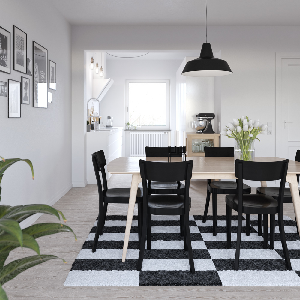 32 more stunning scandinavian dining rooms. Black Bedroom Furniture Sets. Home Design Ideas