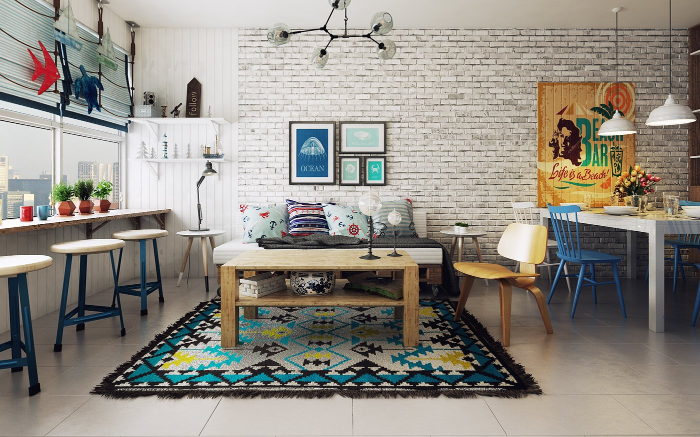 Colorful Scandinavian Living Room Ideas - 10 stunning apartments that show off the beauty of nordic interior design