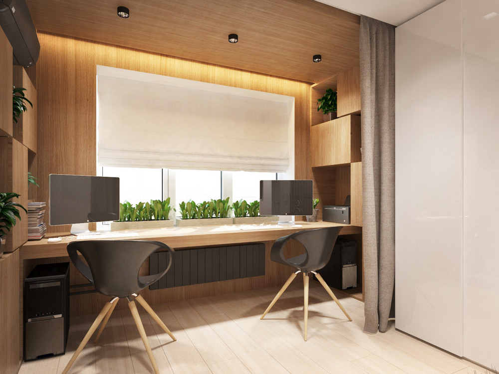Cozy Wood Office Design - 4 super tiny apartments under 30 square meters includes floor plans